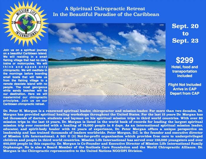 Chiropractic Spiritual Retreat - Chiro Missions - Peter Morgan - Sept 2017